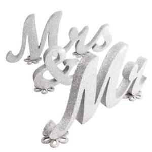 """Tähed """"Mr & Mrs"""" (hõbedane)"""